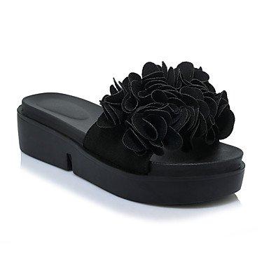 Enochx Donna Sandali Primavera Estate Liane Comfort suole luce similpelle outdoor Abbigliamento Sportivo Liane Applique Black