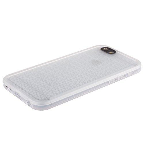 Xcessor Flip Open TU Gel Case Tasche Schutzhülle Für Apple iPhone 6 Plus. Vorder-und Rückseite Schutz. Transparent Halbtransparente