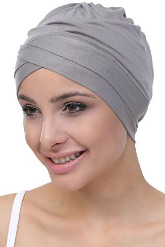 Deresina W Baumwollmütze für Chemo (Grau)