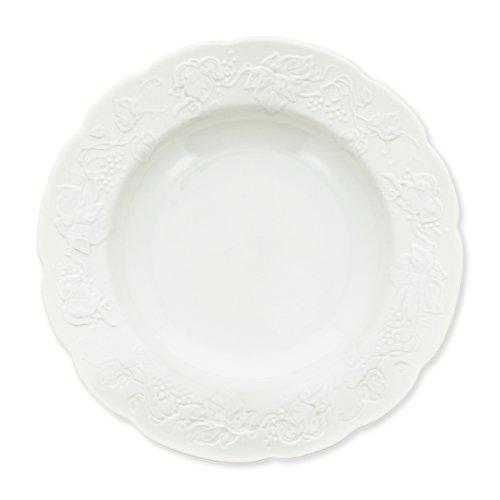 Bruno Evrard Assiette Creuse en Porcelaine 22cm - Lot de 6 - Maritza