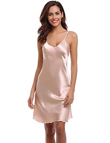 c70f3133387c Aibrou Women Satin Negligee Babydoll Lingerie Night Dress Lingerie  Nightdress Sleepwear Underwear Short Strap Dress V