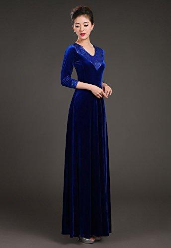 Drasawee - Robe - Taille empire - Femme Bleu
