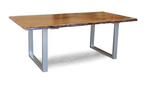 Main Möbel Baumtisch Terai 220x100cm Akazie & Eisen alufarbig