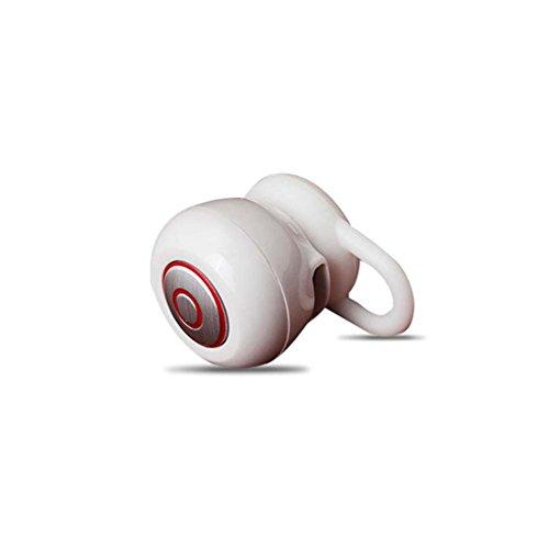 Joyeer Bluetooth Mini Sport Kopfhörer In-Ear Stereo Musik Kopfhörer Rauschen Reduzieren Earbud mit Mic für Smart Phone , white