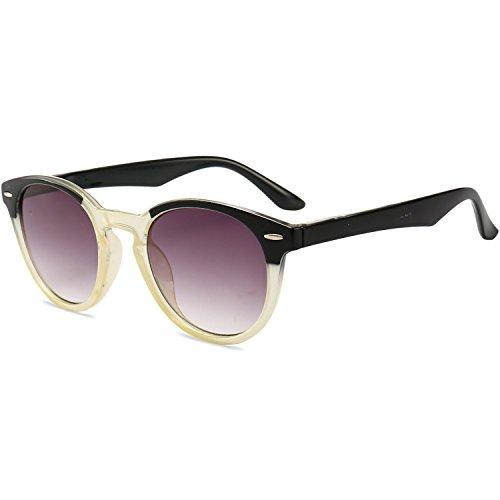 VEVESMUNDO Lesebrille UV Schutz Damen Herren Retro Rund Federbügel Sonne Getönt Lesehilfen Sehhilfen Arbeitsplatzbrille Brillen mit stärken 1.0 1.5 2.0 2.5 3.0 3.5 4.0