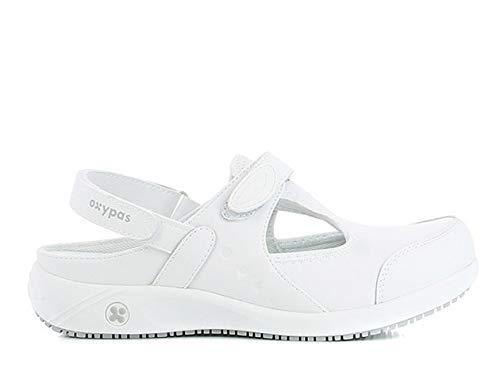 Oxypas Move Carin Slip-resistant, Antistatic Nursing Shoes, White (Wht) , 5.5 UK (EU: 39)