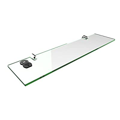 Straight Acrylic Safety Shelf 400mm x100mm, Bathroom, Bedroom, Office - cheap UK light store.