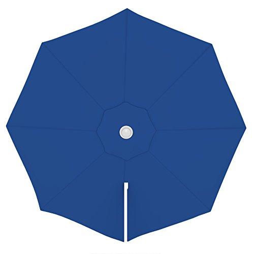 PARAMONDO Toile de rechange pour parasol avec Air Vent pour parasol à mât excentré Parapenda (3,5m / ronde), bleu