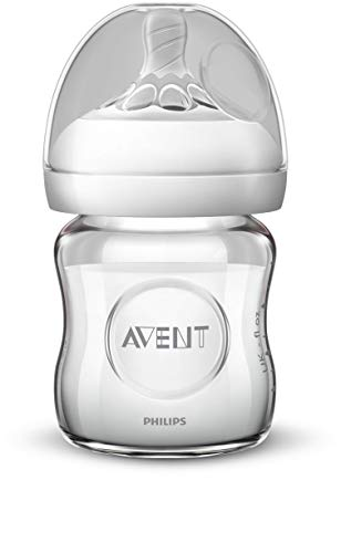 Philips SCF051/17 Avent Biberon Natural Anti-Colica in Vetro, 120 ml, Trasparente