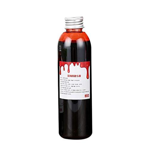 Sunlera 60ml / 120ml Fake Blood Bluten-Gel Plasma Essbare Cosplay Makeup Halloween der erste April Partei Horror Kostüm Spielzeug