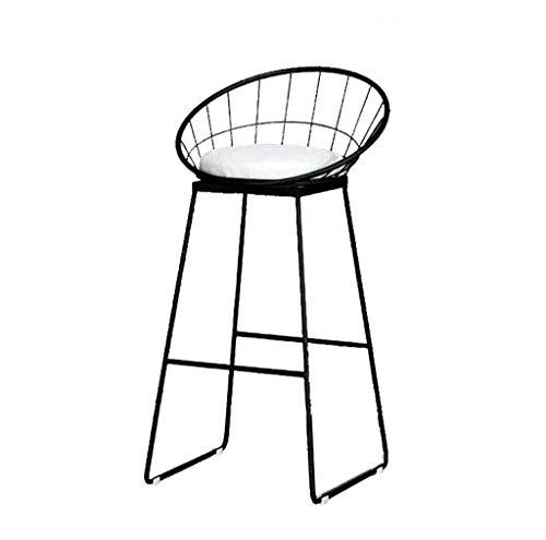 Barstühle Moderne Mode Minimalistischen Stil Eisen Barhocker Hochhocker für Küche und Esszimmer Sitzhöhe 75 cm / 65 cm / 45 cm Farbe (Schwarz) - Barhocker Eisen