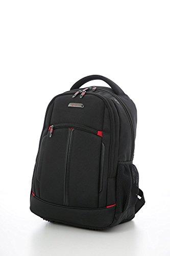 Beute Tasche (Aerolite Laptop-Rucksack Laptop-Tasche Notebooktasche 55x35x20cm IATA Handgepäck - Zugelassen für Ryanair, Easyjet, BA & Jet2, Schwarz)
