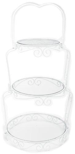 Wedding Frame-set (Wilton 307-841 Graceful Tiers Cake Stand Kuchenständer, Stahl, weiß)