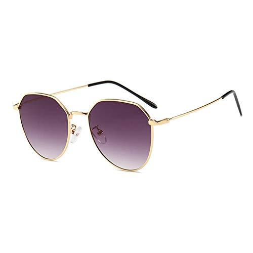 MJDABAOFA Sonnenbrillen,Neue Piloten Sonnenbrille Unisex Sonnenbrille Gold Frame Graue Linse Brillenmode Shades Sonnenbrille Männer Frauen Brillen Uv400