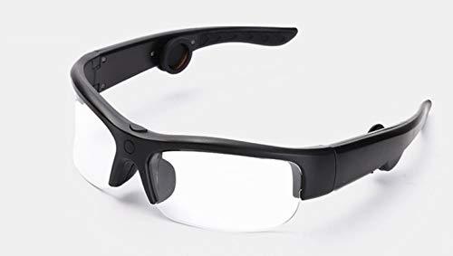 Smart Touch Knochenleitung Bluetooth-Brille, Bluetooth Stereo Kopfhörer, verhindern Blendung und UV-Objektive, geeignet für Laufen, Outdoor, Radfahren, Fahren,Clear