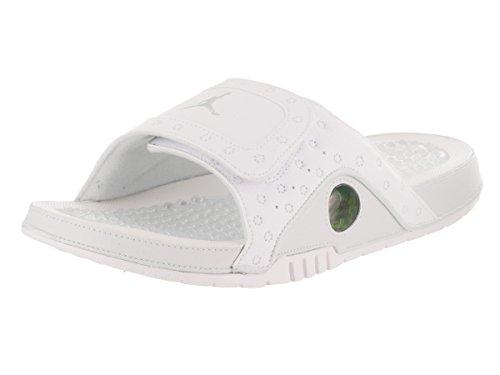 Nike Mens Hydro XIII Retro Synthetic Sandals White Metallic Silver