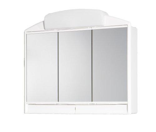 #Jokey Spiegelschrank Rano mit Licht Beleuchtung 59cm breit weiss#