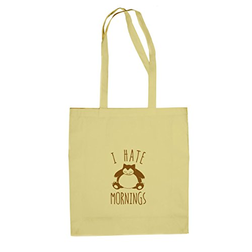 Snorl Mornings - Stofftasche / Beutel, Farbe: natur