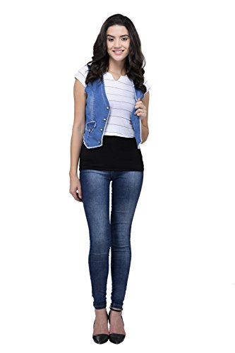 StyleSouk Women`S Light Blue Denim Jacket