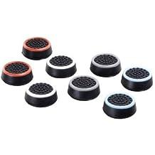 """Hama """"8in1""""-Set Control-Stick Aufsätze für Nintendo Switch Joy-Con Controller (Thumb-Stick Caps für besseren Grip, in 4 Farben) Analog-Stick Schutz-Kappen schwarz-weiß/-blau/-rot/-grau"""