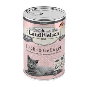 Landfleisch Cat Adult Gelee Lachs&Geflügel   6X 400g Katzenfutter