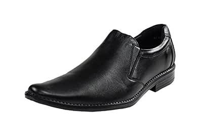 Fusiano Men's Stylish Black Leather Formal Shoes (UK 7)