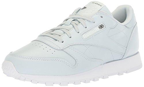 Reebok Women's CL Lthr X Face Walking Shoe, Reflection Blue/White/Black, 10.5 M US