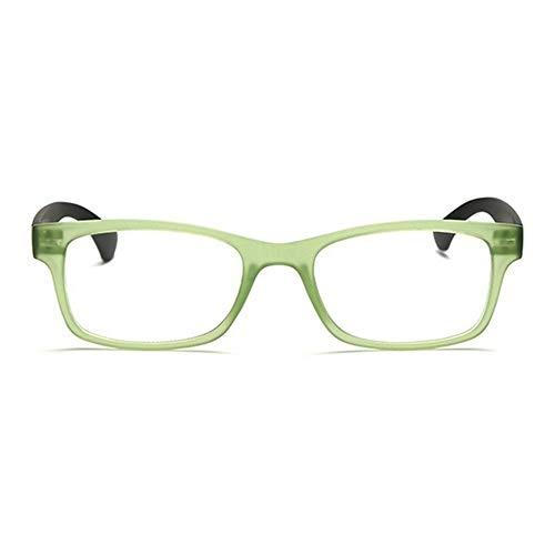 SSXY Presbyopische Brille Ultraleichte Mode Lesebrille Harz Linse Abs Lupe Lupe - Grüner Rahmen 350...