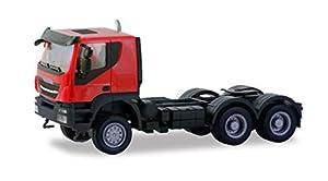 Herpa 310581 Iveco Trakker - Camión Tractor (6 × 6, para Manualidades y Colecciones), Color Negro