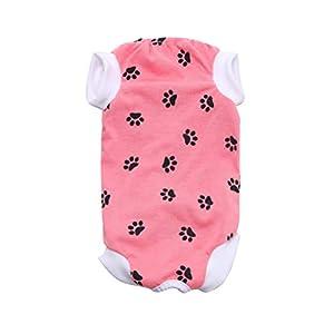 Zhhlinyuan Chien Chat Surgery Recovery Shirt - Pet Body Suit vêtements de Protection pour Petite Moyen Grande Taille, Available in Colors