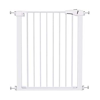 LNDDB Porte de bébé en métal Extra-Large et réglable pour Porte Chat pour barrière de Chat Noir pour intérieur de Maison escaliers, 75-172cm de Large (Taille: Largeur 142-149cm)
