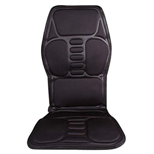 Stuhl Heizung Massage Kissen (YLQXLGS Shiatsu-Massagegerät, Massagekissen, Fingermassage-Stuhl, Auto-Massage-Kissen, Auto-Massage-Kissen, Multifunktions-Auto-Heizung, Vibration, warmes Auto,schwarz,A)