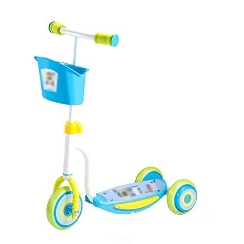 MOM Outdoor Sports Scooter Kick, Big Wheels Scooter für Kinder, Höhenverstellbare Extra Wide Deck 3 Wheels Scooter, mit Ablagekorb Child Toy Balance Car Mini,Style2