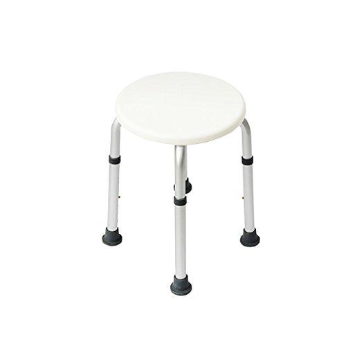 ALCFHYE IVNZEI Dusche Hocker Aluminiumlegierung Ältere Bad Stuhl Kind Bad Hocker Bad Hocker Schwangere Frauen Bad Stuhl Höhenverstellung -