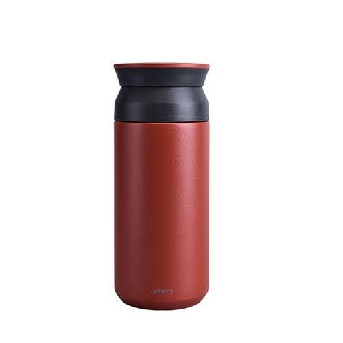 DDUUOO Thermos Kaffeebecher Edelstahl 304 Tee Thermomug Mit Filter Reise Auto Vakuumkolben Kaffee Thermo Becher Für Auto Geschenk 350Ml 350Ml Rot - Kaffee-filter-reisen