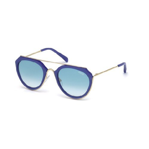 emilio-pucci-ep0045-o-rechteckig-acetat-metall-damenbrillen-blue-blue-shaded-cat190w-c-51-22-135