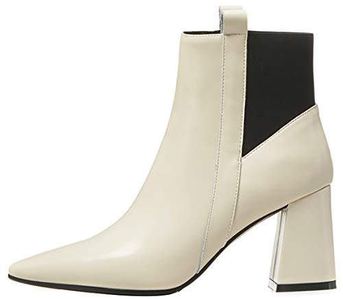 Calaier Donna ankxit 7CM Tacco A Blocco Pull-On Stivali Calzature ... c21df911f78