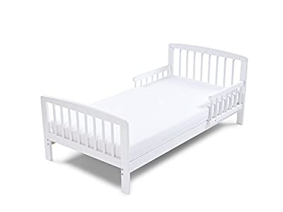 Poppys Playground Eve - White Junior Toddler Bed & Deluxe sprung Mattress