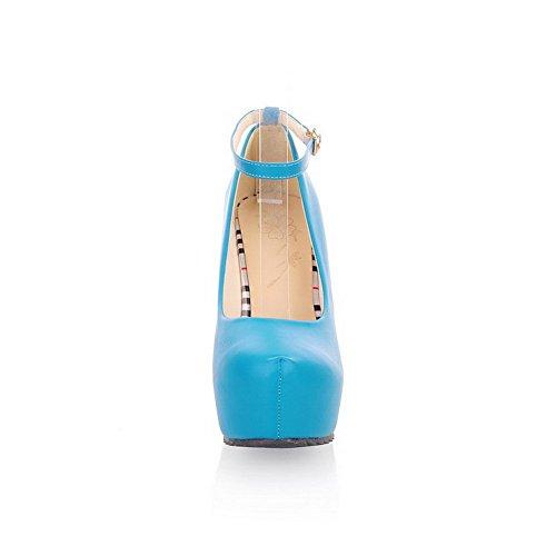Adee , Sandales Compensées femme Bleu
