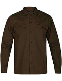 Hurley M Lt Dan Shacket Chaqueta, Hombre, Verde (Olive Canvas), XXL