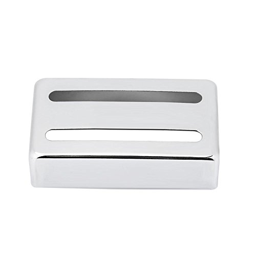 Guitar pickup case, two metal grooves for Humbucker guitar, accessories for electric guitars, silver