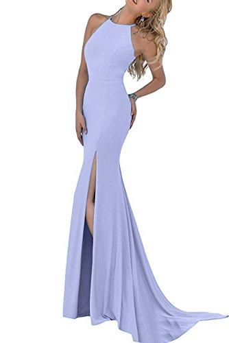 Missdressy Damen Elegant Chiffon Schlitz Stehkragen Etui Aermellos Abendkleider Partykleider Festkleider Lang-34-Lavendel (Lavendel-kleid-schuhe)
