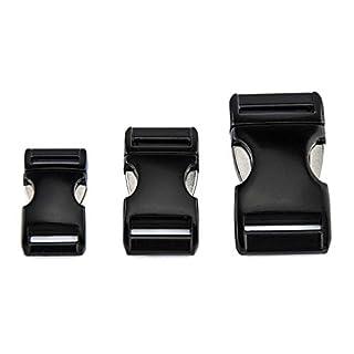 ALU MAX Klickverschluss aus leichtem Aluminium, schwarz matt, 25 mm Gurtbreite, 1 Stück