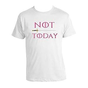 GOT Arya Stark T-shirt NOT TODAY T-shirt Mother of Dragons T-shirt 100% Cotton Unisex GOT