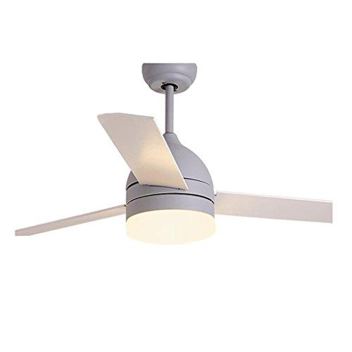 XUERUI Ventilatoren Fan Licht Deckenventilator Licht Amerikanischen Einfachen Wohnzimmer Esszimmer Schlafzimmer Stillen Lüfter Kronleuchter (Color : Gray, Size : 48 inch) -
