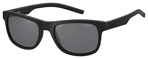 Polaroid pld 6015/s y2 yyv occhiali da sole, nero (black rubber/grey pz), 51 unisex-adulto