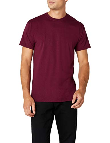 Fruit of the Loom Premium Tee Single, Camiseta manga corta para Hombre, Rojo (Burgundy), Medium
