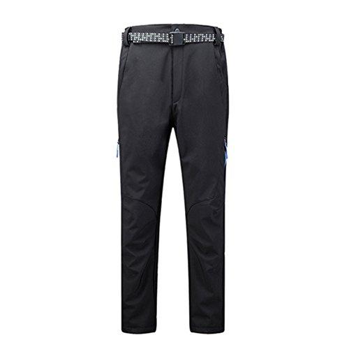 emansmoer Homme Pantalon Softshell Doublé Polaire Imperméable Respirant Outdoor Sport Pantalon de Randonnée Escalade