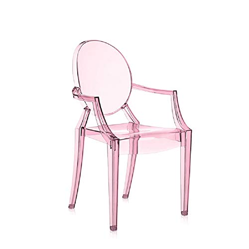 Kartell Ghost Chaise Lou, Rose Transparent, 39 x 37 x 63 cm