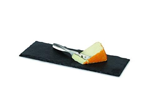 BOSKA Käsebrett Cheesy mit Messer Größe S, Edelstahl, schwarz, 33 x 12 x 1 cm -